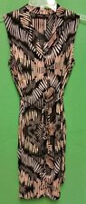 APT 9 Black Gray & Taupe Sleeveless Dress - Size 2 - VGC