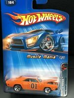 HOT WHEELS GENERAL LEE DUKES OF HAZZARD CUSTOM '69 DODGE CHARGER MUSCLE MANIA 🚨