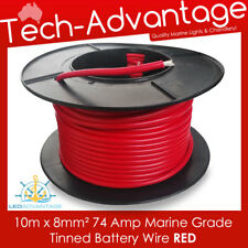 10m X 8mm² RED 74A MARINE WINCH HEAVY-DUTY BATTERY TINNED COPPER WIRE - 8 B&S
