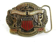 1787-1987 U.S.A. Constitution Commemorative Belt Buckle By G.A.B. Co. 22017