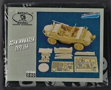 ROYAL MODEL 200 - SCHWIMMWAGEN TYPE 166 CONVERSION SET - 1/35 RESIN KIT