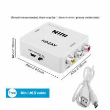 HDMI To AV Adapter Converter Cable CVBS 3RCA 1080P Composite Video Audio White