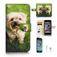 ( For iPhone 7 ) Wallet Case Cover P6770 Cute Puppy Dog