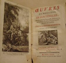 FONTENELLE - OEUVRES TOME 4 : EGLOGUES ET POESIES DIVERSES - 1742