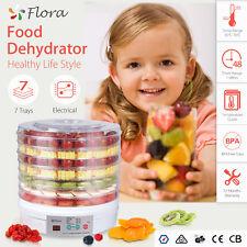 7 Trays BPA Free White Food Dehydrator Furit Beef Jerky Dryer Maker Household