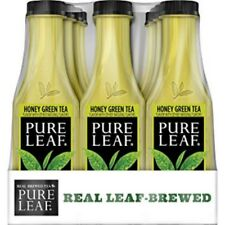 PURE LEAF Iced Tea Real Brewed Honey Green, 0 Calories 18.5 Ounce Pack of 12