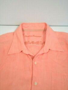 Tommy Bahama Men's Linen Shirt Sz XL Textured Surface Hawaiian Button Up L/S Top