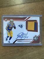 2019 PANINI Limited Darrell Henderson RPA /25 AUTO PATCH RC Los Angeles Rams 📈