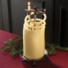 Beeswax Coil Sculptural Candle with Stand - Natural