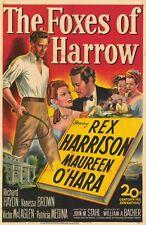 THE FOXES OF HARROW Movie POSTER 11x17 Rex Harrison Maureen OHara Richard Haydn