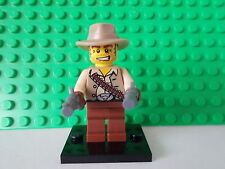 genuine lego minifigure the cowboy from series 1 rare
