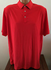 Nike Golf Mens Size Large L Red Tour Premium Precision Polo Dri Fit Shirt 603864