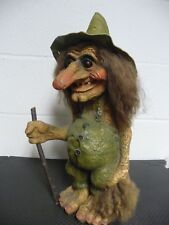 """Vintage Ny Form Troll with Tail, Long Nose, Hat & Stick (19"""" with hat; 16"""" w/o)"""