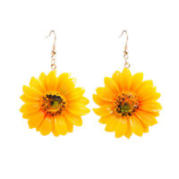 Fashion Women Sunflower Ear Acrylic Drop Dangle earrings Jewelry Gift