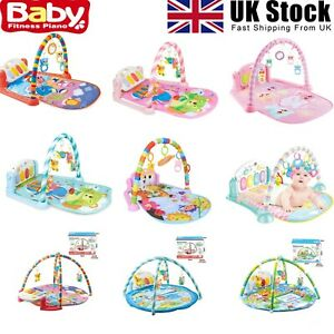 Baby Gym Play Mat Large Lay & Play 5 in 1 Fitness Music And Lights Fun Piano Toy
