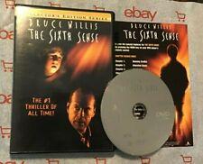 The Sixth Sense (DVD, 1999, Collector's Edition Series) + Insert! Bruce Willis