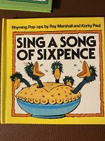 Rhyming Pop-ups by Ray Marshall and Korky Paul SING A SONG of SIXPENCE 1983 Mint