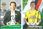 Peter SCHÖTTEL und Richard STREBINGER , Rapid Wien / Top und original !