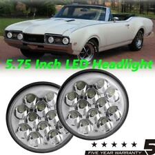 2x 5.75 Inch Round LED Headlight 6000K White Replacement Lamp For Peterbilt Semi