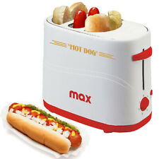 Macchina Per Hot Dog Alloggio Wurstel e Pane 650W Hotdog Maker Party Feste Max
