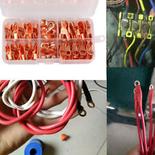 70pcs Wire Copper Sleeves 5 Sizes Ring Crimp Terminal Car Electric Accessories