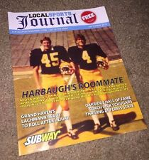MICHIGAN WOLVERINES BIG 10 JIM HARBAUGH Roommate MIKE REINHOLD Sports Magazine !