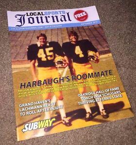 MICHIGAN WOLVERINES BIG 10 JIM HARBAUGH Roommate MIKE REINHOLD Sports Magazine !