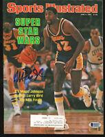 Lakers Magic Johnson Signed 1984 Sports Illustrated Magazine BAS #MJ00969