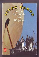 jules verne - le tour du monde en 80 jours  - livre de poche