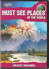 MUST SEE PLACES OF THE WORLD - 3 DVD SET - WILDLIFE TREASURES & MORE