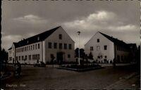 Diepholz AK ~1950/60 Partie Post Straße Menschen Gebäude Kreuzung Fahrrad Fahrer