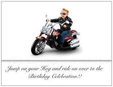 20 Birthday Motorcycle INVITATIONS Post Cards Harley Davidson Kid/Ad