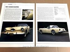 1954 Kaiser-Darrin Original Car Review Print Article J669