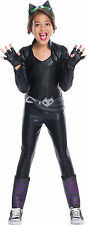 Kids Deluxe Catwoman Costume DC Superhero Girls Costume Size Large 12-14