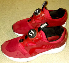 PUMA DISC BLAZE TRAINERS SNEAKERS / RED & WHITE / UK SIZE 8 / VERY RARE