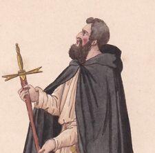 Ordre du Temple Ecuyer Frère Servant Ordre du Temple Manteau Noir XIIIe siècle