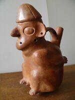 vase précolombienne très rare en terre cuite culture Vicus Pérou 400 - 200 av JC