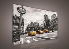 LEINWAND BILD WANDBILD BILDER (PP502O1) New York Gelbes Taxi Stadt 100x75cm