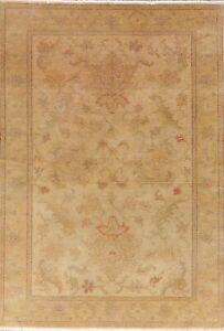 Antique Look Oushak Turkish Oriental Area Rug Handmade Vegetable Dye Carpet 5x7