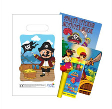 Filled Pirate Themed Children's Party Bags Full of Treasure! - Pack of 100