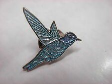 Hummingbird collectable pin badge. Blue glitter version. Nice item. Humming bird