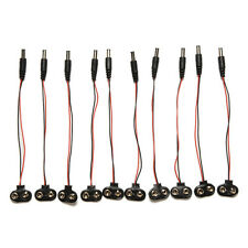 "10 Pcs 9V Battery Snap T-Type Cable 18cm/7.09"" Male DC Plug to 9V Batttery"