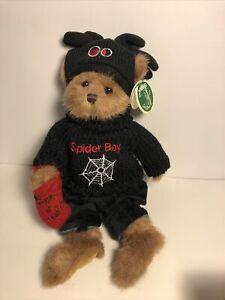 Vtg. 2007 Retired The Bearington Bear Collection Webster Spider Boy Halloween