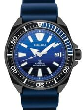 NEW SEIKO PROSPEX SAMURAI BLUE WHALE SPECIAL EDITION BLUE DIAL BLACK PVD SRPD09
