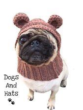 El Perro De Oso De Peluche Sombrero Redecilla para su perro. Bulldog Francés, Carlino, Sombrero Disfraz