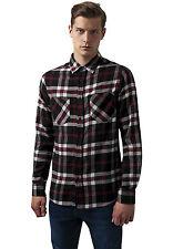 Checked Flanell Shirt 3 Urban Classics Streetwear Maglietta Uomo Camicia M Blk/wht/red