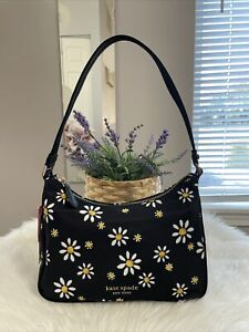New Kate Spade Sam Daisy Dots Small Shoulder Bag black multi Gift