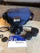 Sears Ks Super Ii 35mm Slr film camera w/2 Lenses & 1 Flash - Very Clean