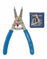 Channellock 927 8-Inch Snap Ring Plier | Includes 5 Pairs of Interchangeable