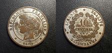 IIIème République - 10 centimes Cérès 1889 A, Paris plaquée argent ! F.135/34